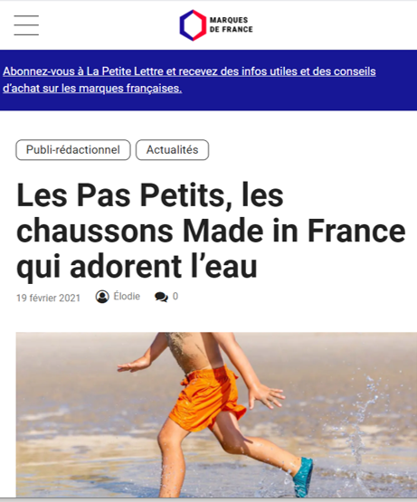 article presse Marques de France