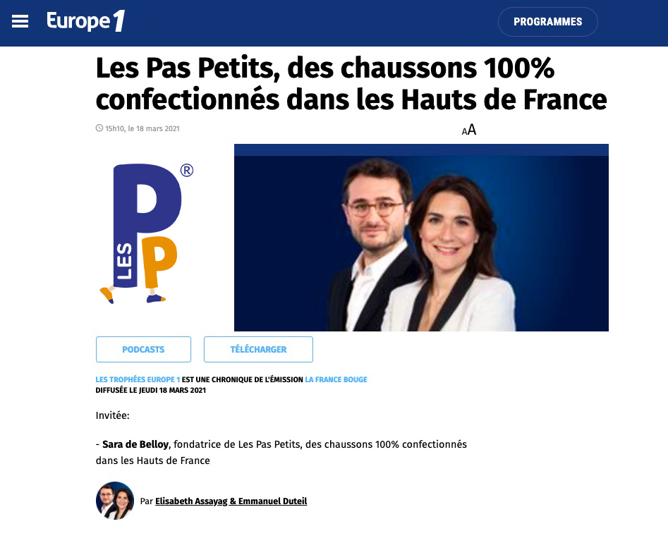Podcast Europe1 Les Pas Petits